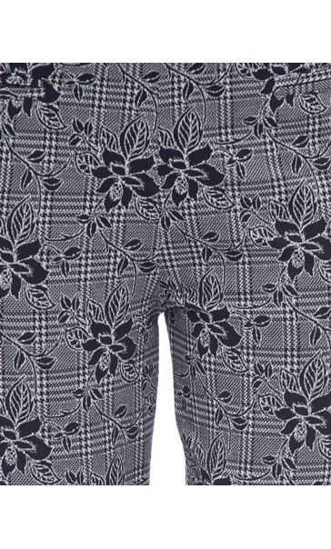 Anna Rose Patterned Trousers Navy - Gallery Image 3