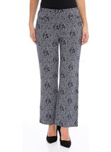 Anna Rose Patterned Trousers Navy - Gallery Image 1