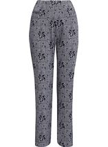 Anna Rose Patterned Trousers Navy - Gallery Image 4