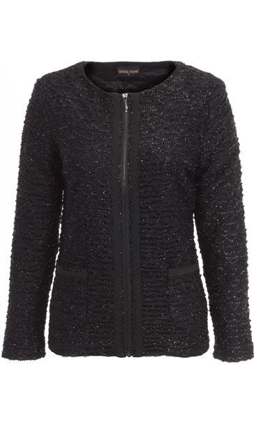 Anna Rose Zip Jacket Black