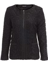 Anna Rose Zip Jacket Black - Gallery Image 1