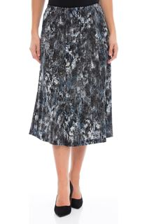 Anna Rose Pull On Midi Skirt - Blues