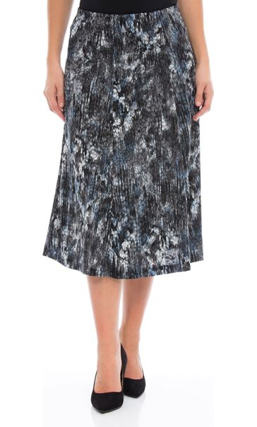 Anna Rose Pull On Midi Skirt Blues