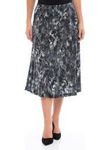 Anna Rose Pull On Midi Skirt Blues - Gallery Image 1
