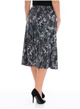 Anna Rose Pull On Midi Skirt Blues - Gallery Image 2
