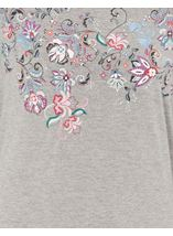 Anna Rose Embellished Jersey Top Grey Marl - Gallery Image 4