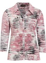 Anna Rose Printed Pleat Blouse With Necklace Multi - Gallery Image 1