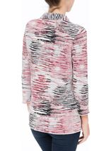 Anna Rose Printed Pleat Blouse With Necklace Multi - Gallery Image 3