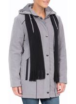 Anna Rose Hooded Coat With Scarf Steel - Gallery Image 2
