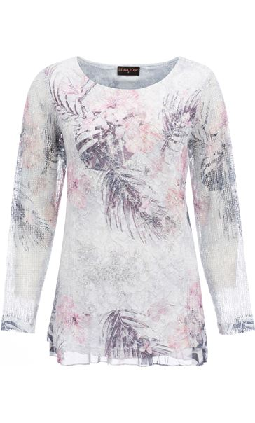 Anna Rose Lace Layered Top Pink Multi