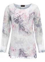 Anna Rose Lace Layered Top Pink Multi - Gallery Image 1
