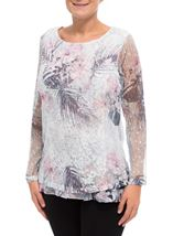 Anna Rose Lace Layered Top Pink Multi - Gallery Image 2
