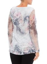 Anna Rose Lace Layered Top Pink Multi - Gallery Image 3