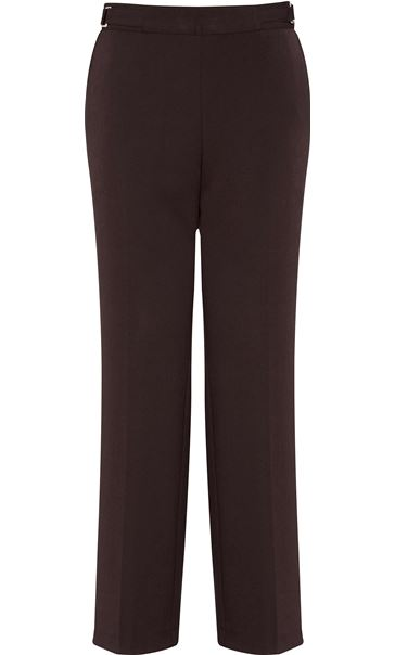 Anna Rose Straight Leg Trousers 29 Inch Brown - Gallery Image 4