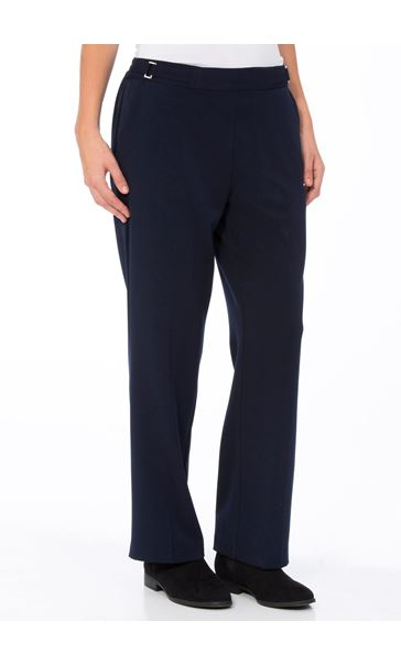Anna Rose Straight Leg Trousers 29 Inch Navy - Gallery Image 2