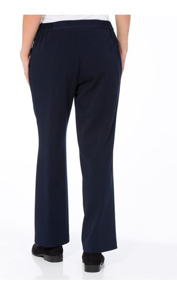 Anna Rose Straight Leg Trousers 29 Inch Navy - Gallery Image 3