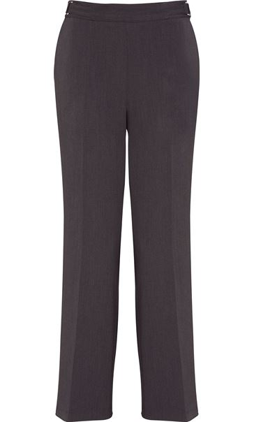 Anna Rose Straight Leg Trousers 29 Inch Charcoal