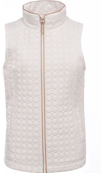 Anna Rose Quilted Gilet Cream