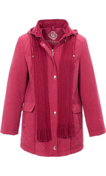 Anna Rose Scarf Coat Rouge