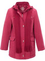 Anna Rose Scarf Coat Rouge - Gallery Image 1