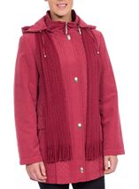 Anna Rose Scarf Coat Rouge - Gallery Image 2