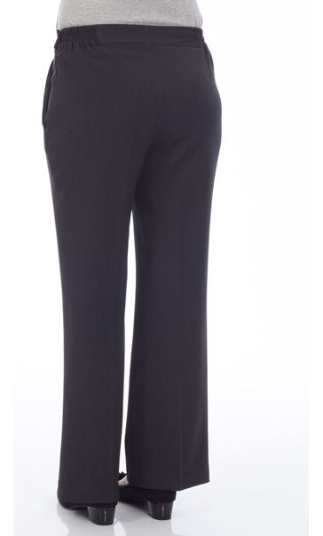 Anna Rose Everyday 29 Inch  Trousers Charcoal - Gallery Image 3