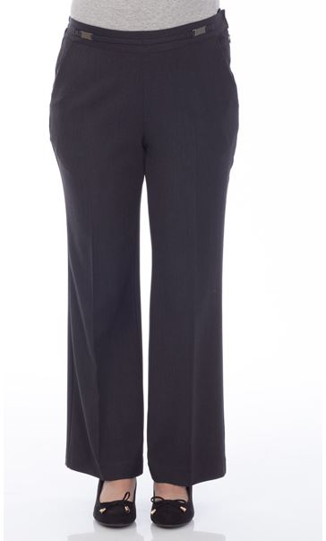 Anna Rose Everyday 27 Inch  Trousers Charcoal - Gallery Image 2
