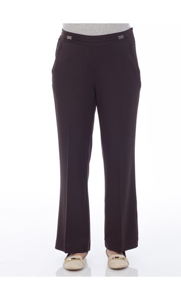 Anna Rose Everyday 27 Inch  Trousers Choc - Gallery Image 2