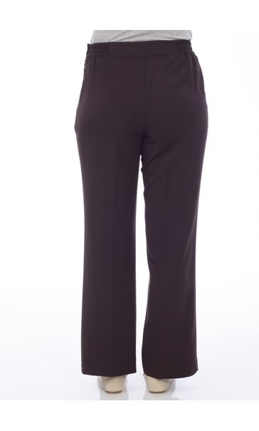 Anna Rose Everyday 27 Inch  Trousers Choc - Gallery Image 3