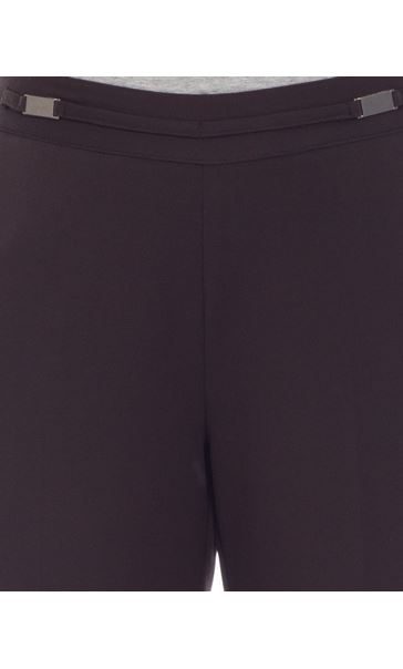 Anna Rose Everyday 27 Inch  Trousers Choc - Gallery Image 4