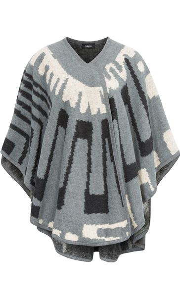 Patterned Cape Grey/Ecru