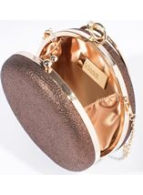 Circular Shimmer Clutch Bag Gold - Gallery Image 2