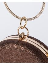 Circular Shimmer Clutch Bag Gold - Gallery Image 3