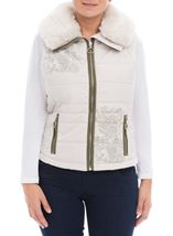 Detachable Knit Sleeve Gilet Stone - Gallery Image 3