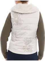 Detachable Knit Sleeve Gilet Stone - Gallery Image 4