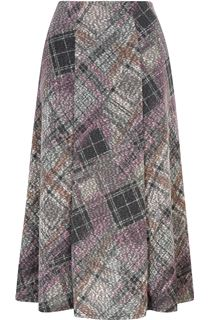 Anna Rose Check Midi Skirt