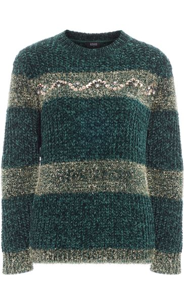 Chenille Long Sleeve Top Greens