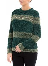 Chenille Long Sleeve Top Greens - Gallery Image 2