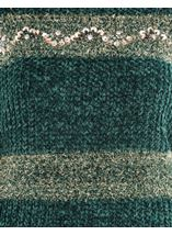 Chenille Long Sleeve Top Greens - Gallery Image 4