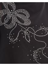 Embellished Chiffon Layered Top Black - Gallery Image 4