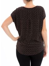 Glitter Chevron Loose Fit Top Black/Rainbow - Gallery Image 3