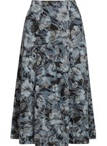 Anna Rose Fit And Flare Printed Skirt Grey/Black - Gallery Image 1