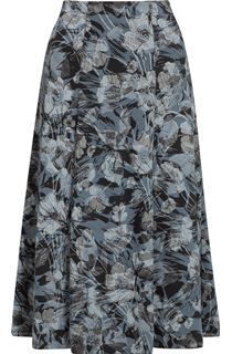 Anna Rose Fit And Flare Printed Skirt