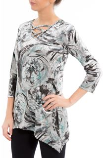 Anna Rose Printed Velour Top