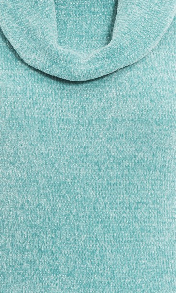 Anna Rose Cowl Neck Chenille Top Blue - Gallery Image 4