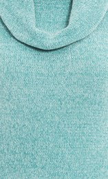 Anna Rose Cowl Neck Chenille Top Aqua - Gallery Image 4