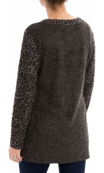 Knitted Wrap Over Top Grey - Gallery Image 2
