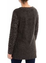 Knitted Wrap Over Top Grey Marl - Gallery Image 2