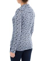 Anna Rose Heart Print Cowl Neck Knit Top Navy/Black - Gallery Image 3