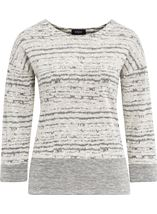 Contrast Split Hem Knit Top Light Grey - Gallery Image 1